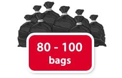 80 - 100 bags