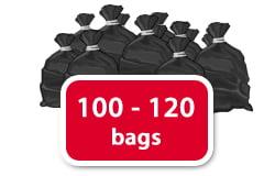 100 - 120 bags