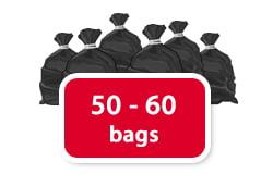 50 - 60 bags