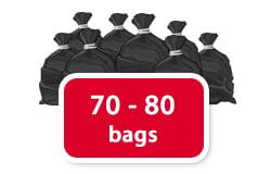 70 - 80 bags